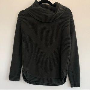 Banana Republic Cowl Neck Chevron Sweater